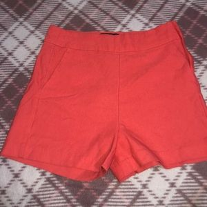 Apricot High Waisted Shorts